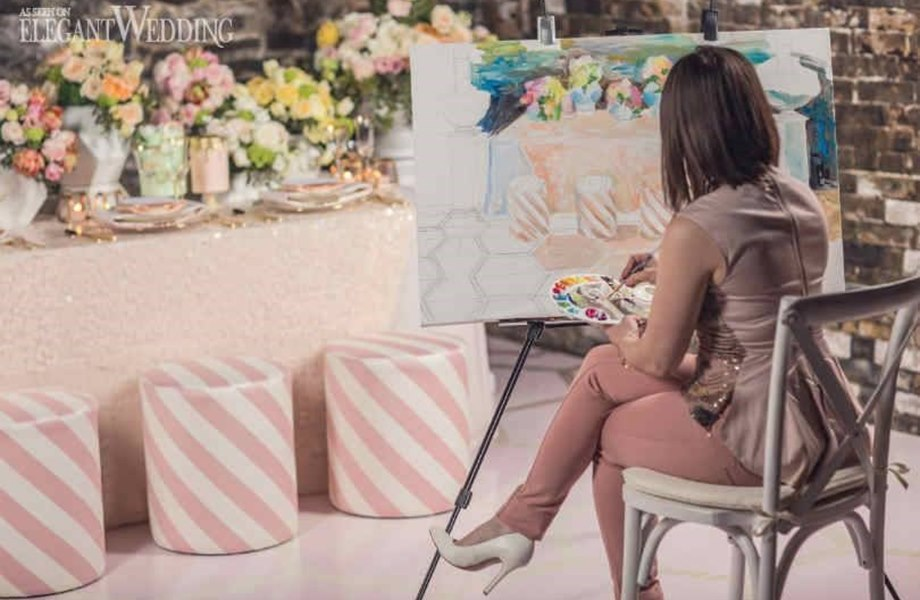 LLive Wedding Artist | Live Wedding Painter