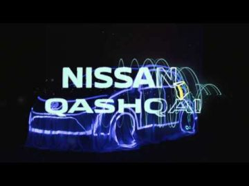 Event Nissan Qashqai 2017 Virtual Reality Art Tilt Brush and Video Mapping