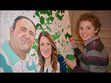 Kelly and Chris Wedding Paint by Numbers Live Art Entertainment