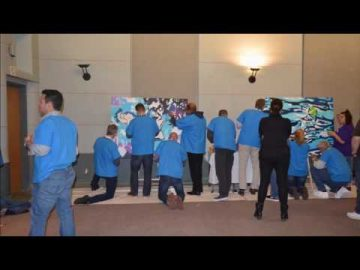 PAINT BY NUMBERS Activity - BMO & Michael Garron Hospital Corporate Team Building
