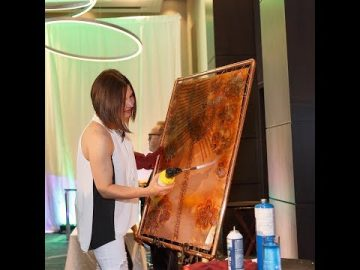 Painting with Fire on Pure Copper - Marriott Markham Grand Opening