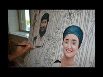 Live Wedding Art - Paint by Numbers