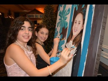 Paint by Numbers - Bat Mitzvah - Unique party idea !