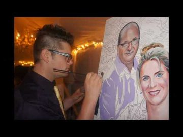 Paint by Numbers - Live Art Entertainment - Wedding